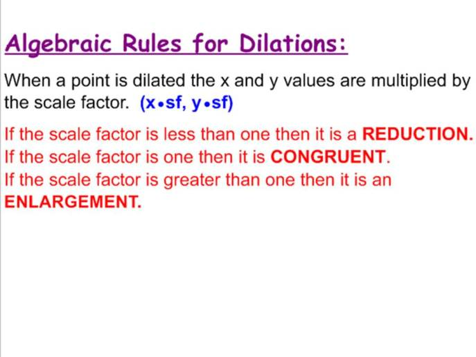 Dilations Rule
