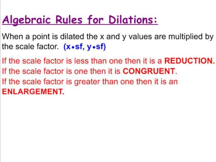 Dilations Rule