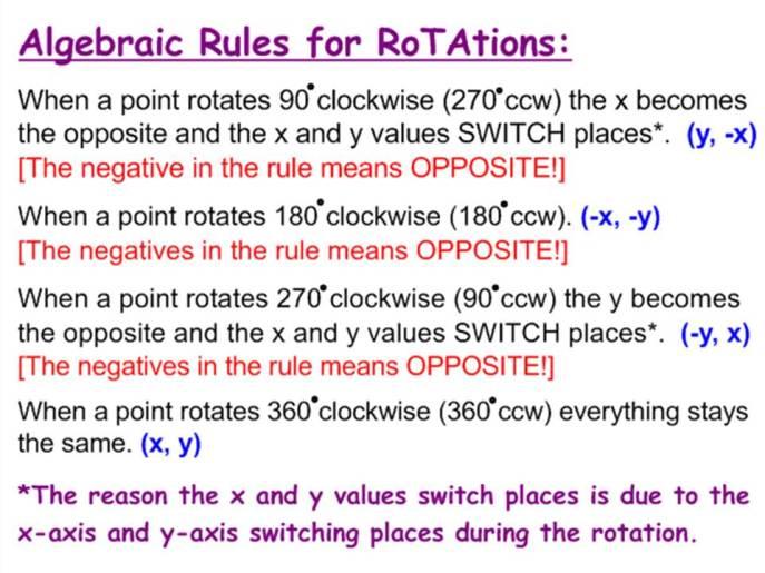 Rotation Rule
