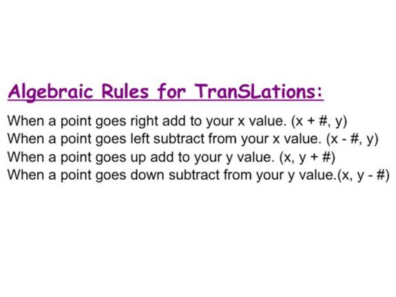 Translation rule
