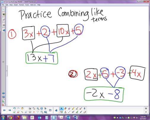 3.4 Combining Like Terms